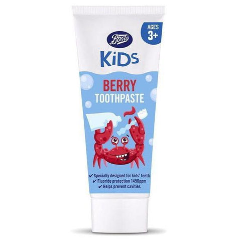 Boots Kids Berry Toothpaste 3+Yrs 75ml