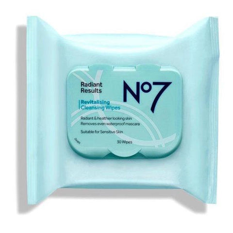 No7 Radiant Results Revitalising Cleansing Wipes 30's