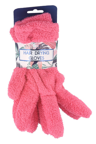 Detangle Hair Drying Gloves Pink