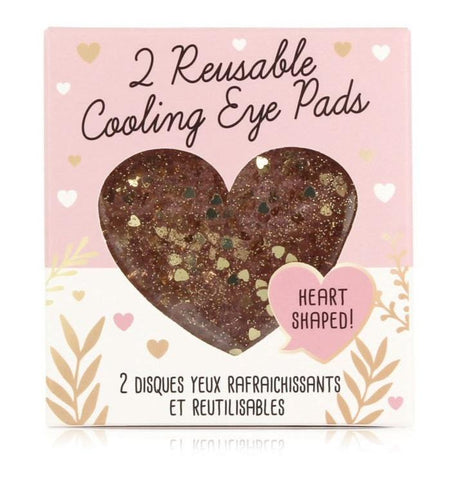 Glitter Hearts Reusable Cooling Eye Pads