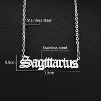 Sagittarius - Old English Zodiac Sign Necklace