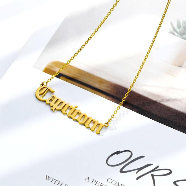 Capricorn Stainless Steel Zodiac Necklace - Starfyx