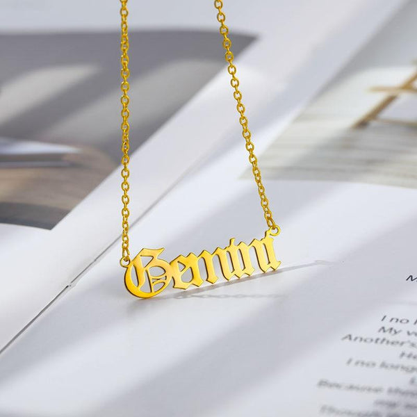 Gemini Stainless Steel Zodiac Necklace - Starfyx
