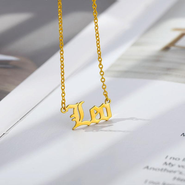Leo Stainless Steel Zodiac Necklace - Starfyx
