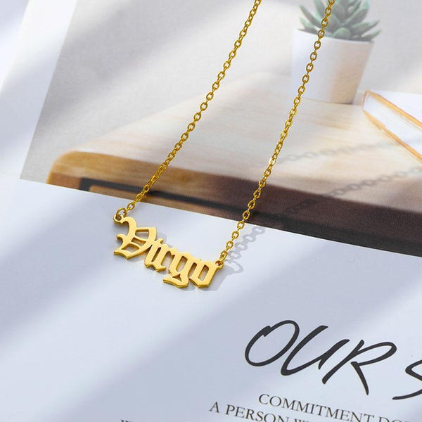 Virgo Stainless Steel Zodiac Necklace - Starfyx
