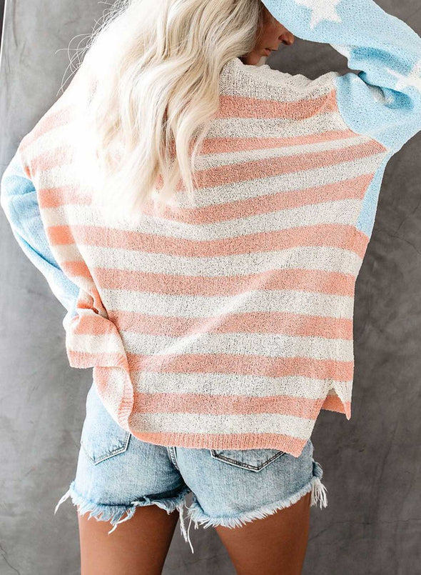 Daily Star Striped Corchet Top