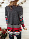 Striped Long Sleeve Round Neck Daily Tops