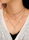 Butterfly Letter Multi-layer Neckless