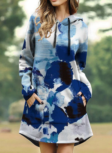 Abstract Tie Dye with Kangaroo Pockets Hoodie