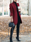 Red Fashionable Solid Down Overcoat LC851811-3