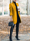 Yellow Fashionable Solid Down Overcoat LC851811-7
