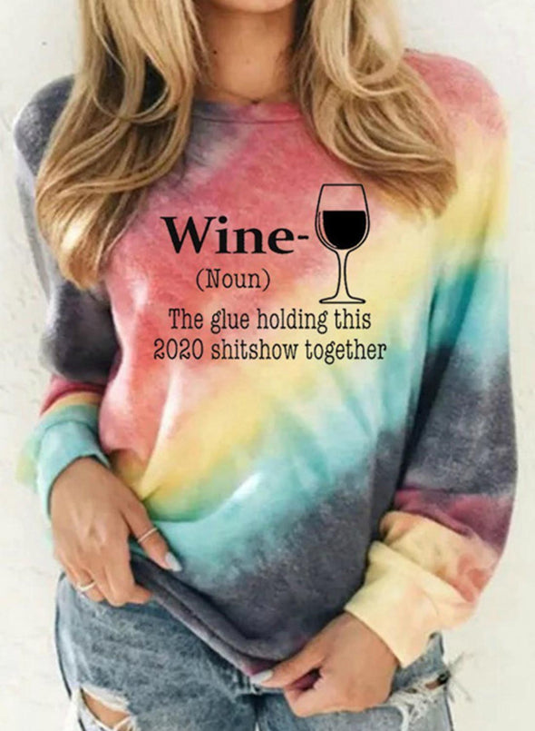 Multicolor Women's Sweatshirts Round Neck Long Sleeve Color Block Sweatshirts LC2535291-22