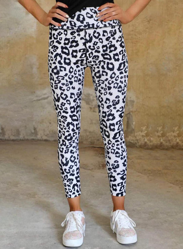 Leopard Women's Leggings Leopard High Waist Full Length Slim Leggings LC76217-20
