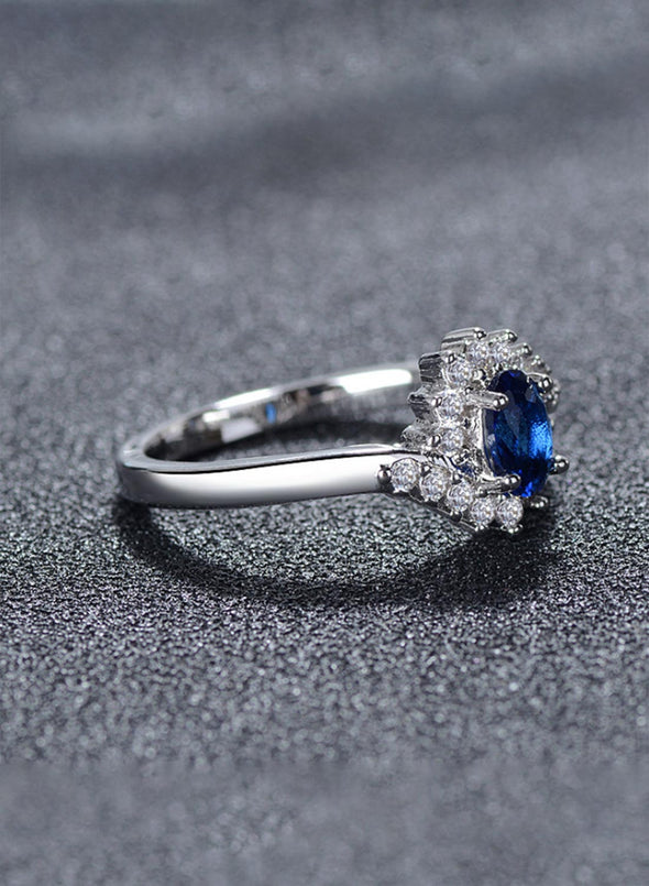 Blue Crystal Gem Ring LC01939-5