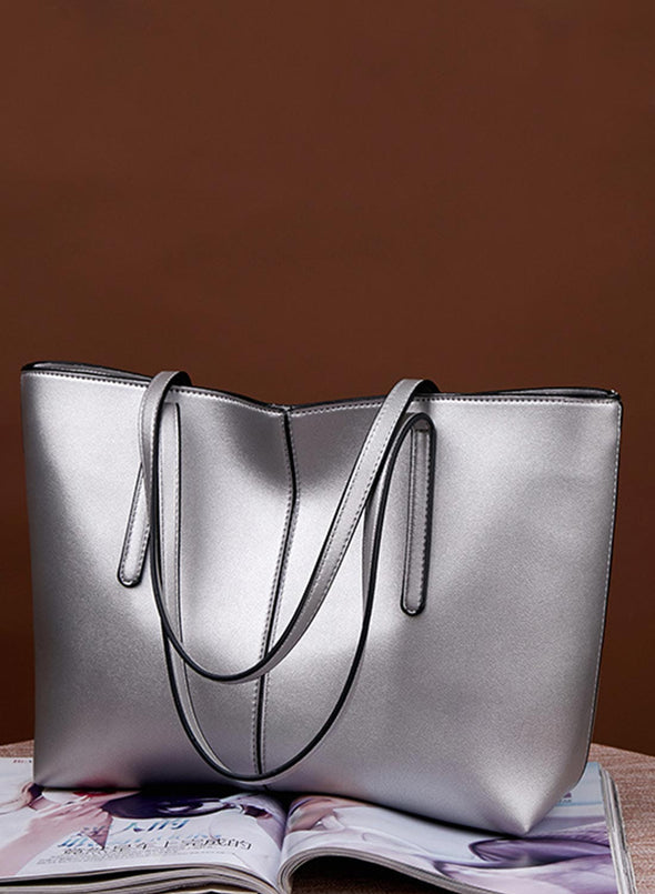 Silver Women's Bags Large Capacity Shoulder Tote Bag LC003058-13