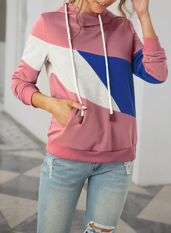 Red Fashion Casual Style Contrast Sweatshirt LC2533351-3