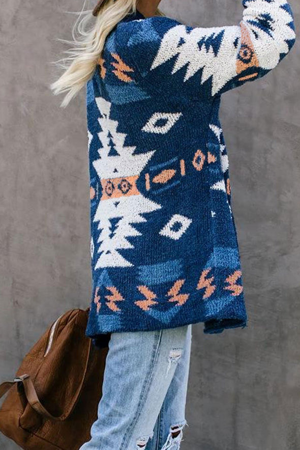 Women's Cardigans Moraga Pocketed Aztec Cardigan