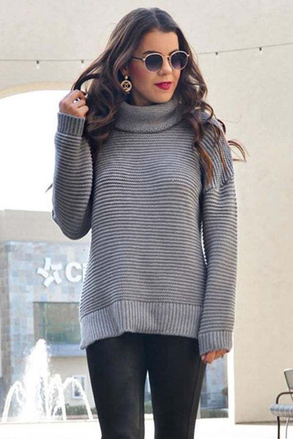 Women's Sweaters Cozy Long Sleeves Turtleneck Sweater