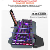 Mechanical Gaming Keyboard With RGB Backlight & Phone Holder