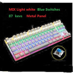 METOO Zero Mechanical keyboard 87/104 keys Black Blue Red switch Gaming keyboard
