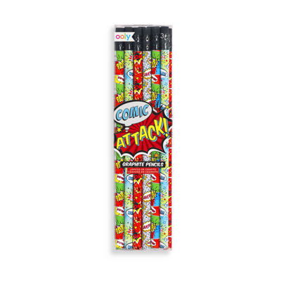 Comic Attack Graphite Pencils - Set of 12