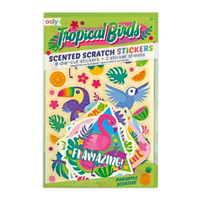 Tropical Birds Scented Stickers