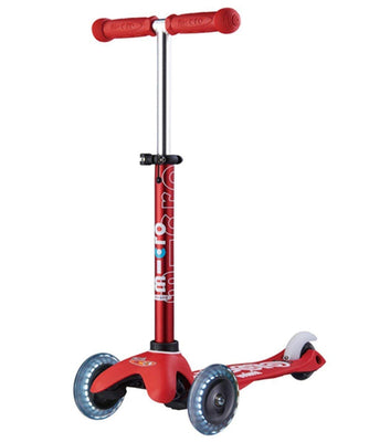 Micro Mini Deluxe Scooter - LED Red