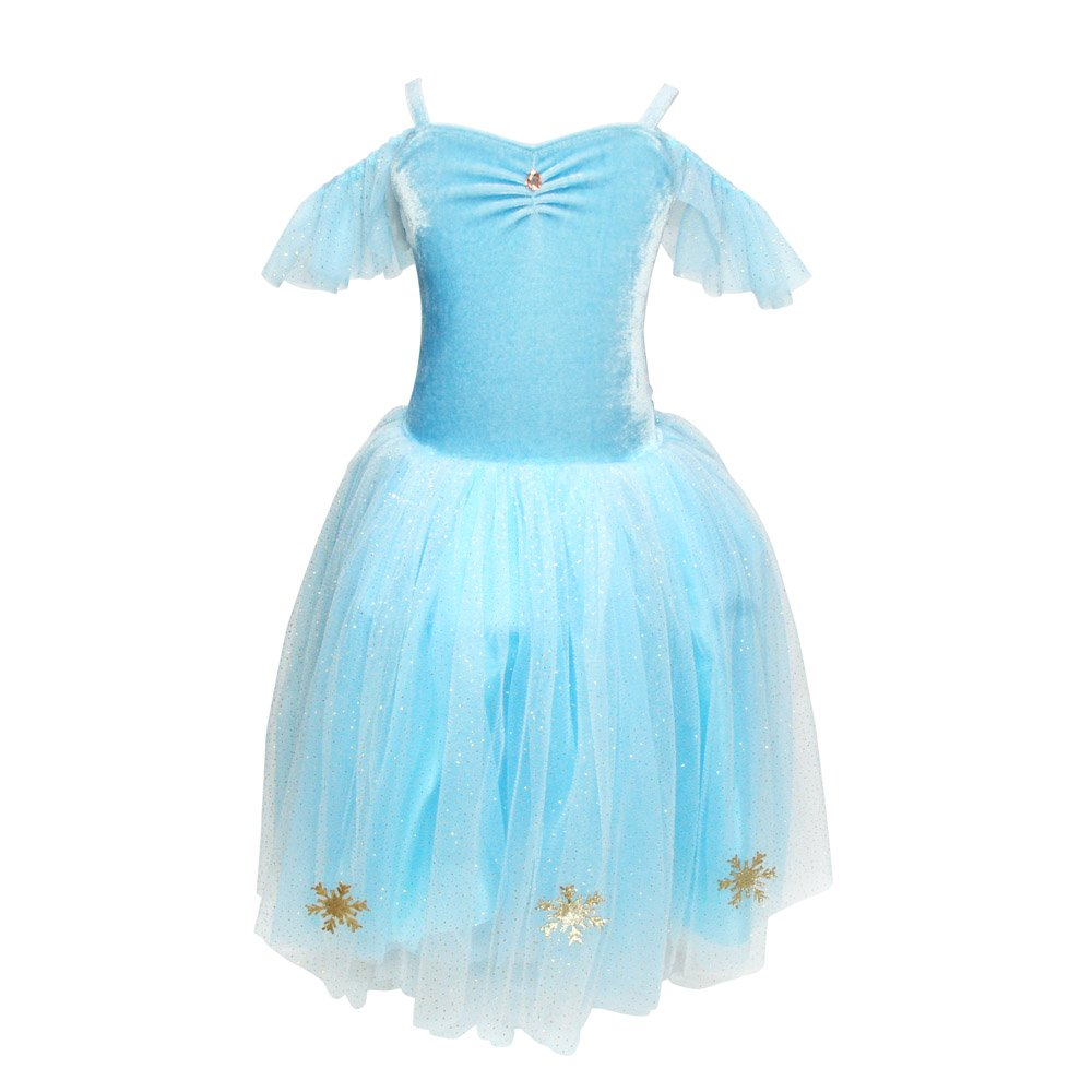 Snow Princess Snowflake Dress Sz 3/4