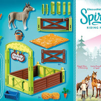 70120 Spirit Riding Free Snips & Señor Carrots with Horse Stall