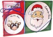Reindeer In Here Santa Cookie Plate & Reindeer Treat