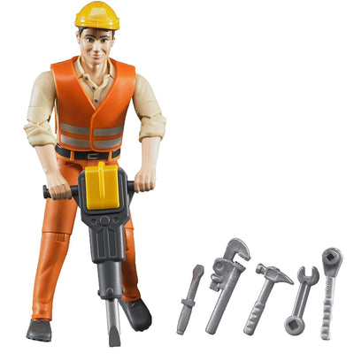 Construction Worker with Accessories