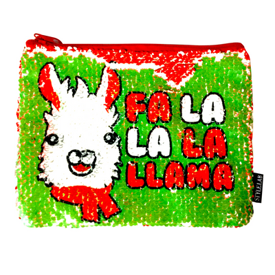 Magic Sequin - Fa La La La Llama Pouch