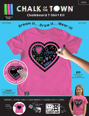 Youth SS Raspberry Heart 3 Marker Kit - XS