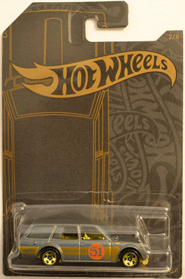 Hot Wheels Satin & Chrome Datsun Wagon