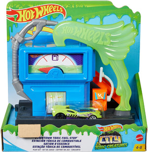 Hot Wheels Downtown Play Set City- Toxic Fuel Stop