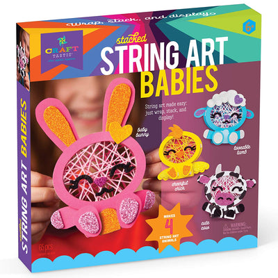 Craft-tastic Stacked String Art - Babies