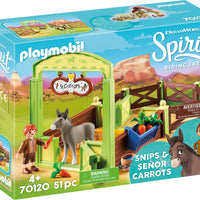 Snips & Senor Carrots with Horse Stall
