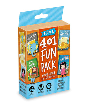 Child Card Games:  4 in 1 Fun Pack