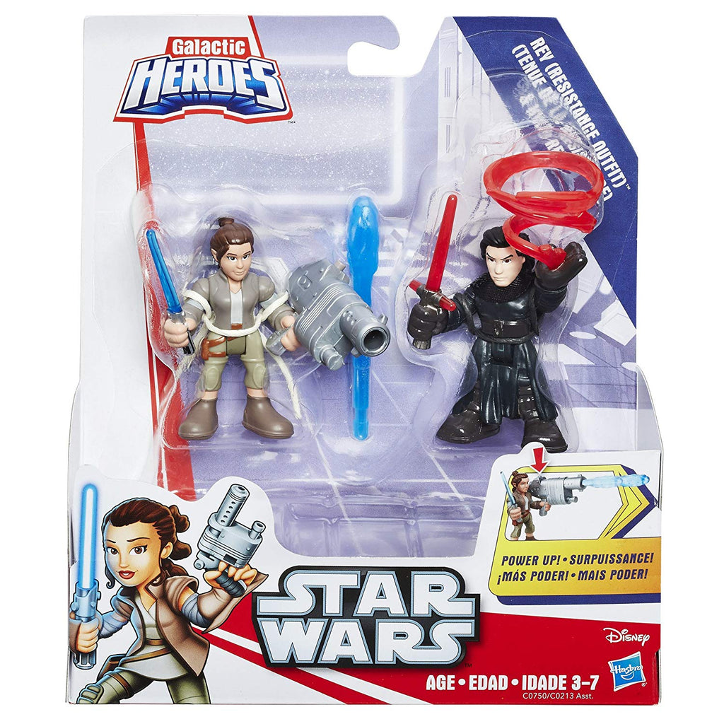 Star Wars Galactic Heroes Power Up 2 Pack - Rey & Kylo Ren