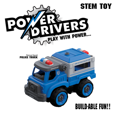 Power Drivers Builders:  Police Truck