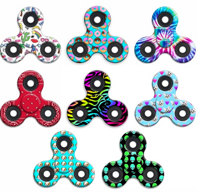 Fidget Spinners - Printed Assortment
