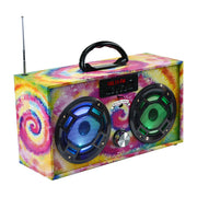 Mini Boom Box Tie Dye
