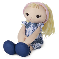 Toddler Doll - Blue Floral Dress