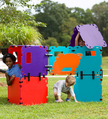16-Piece Mighty Fantasy Forts Color Block