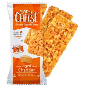 Just The Cheese Aged Cheddar Crunchy Toasted Cheese