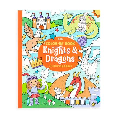 Color-in' Book - Knights & Dragons