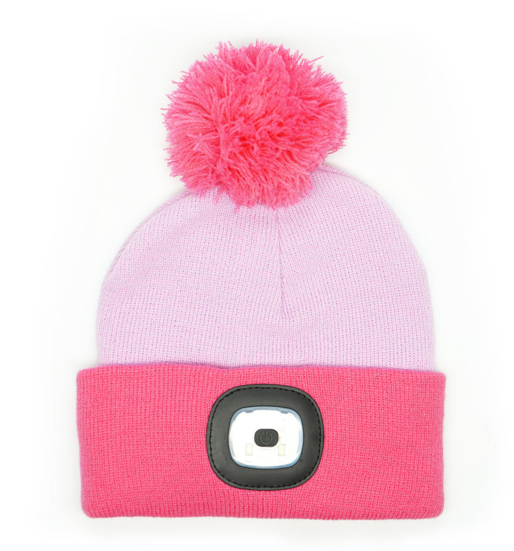 Night Scout Night Owl Rechargeable LED Pom Hat for Kids