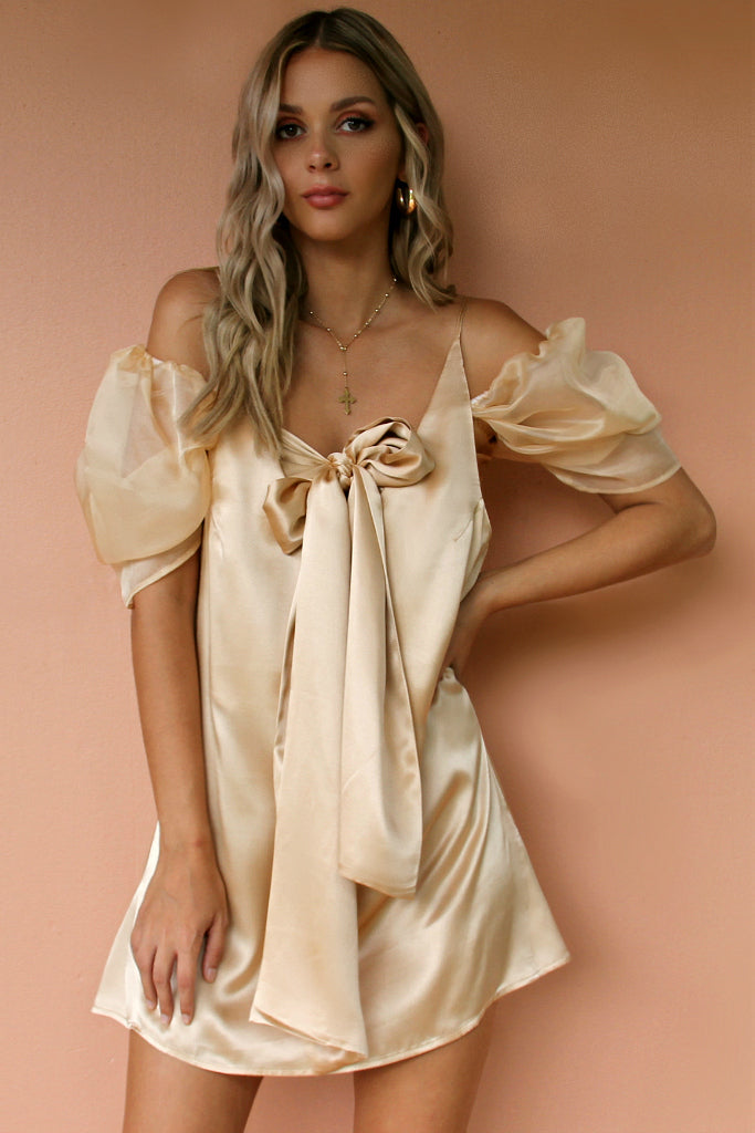 VOGUE SLIP - CHAMPAGNE SILK