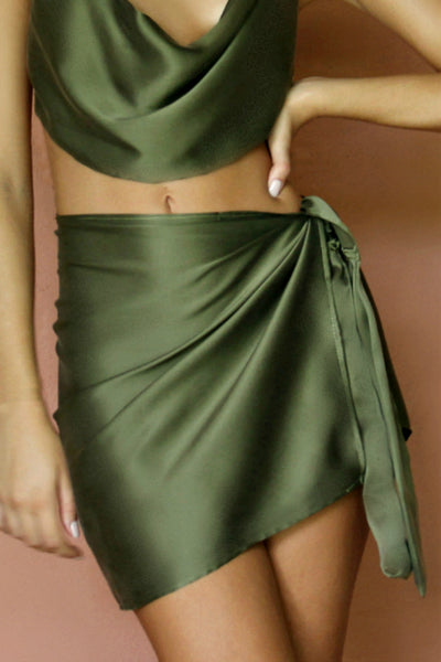 BABE SKIRT - FOREST SILK
