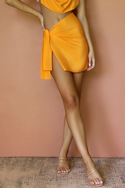 BABE SKIRT - TANGERINE DREAM SILK
